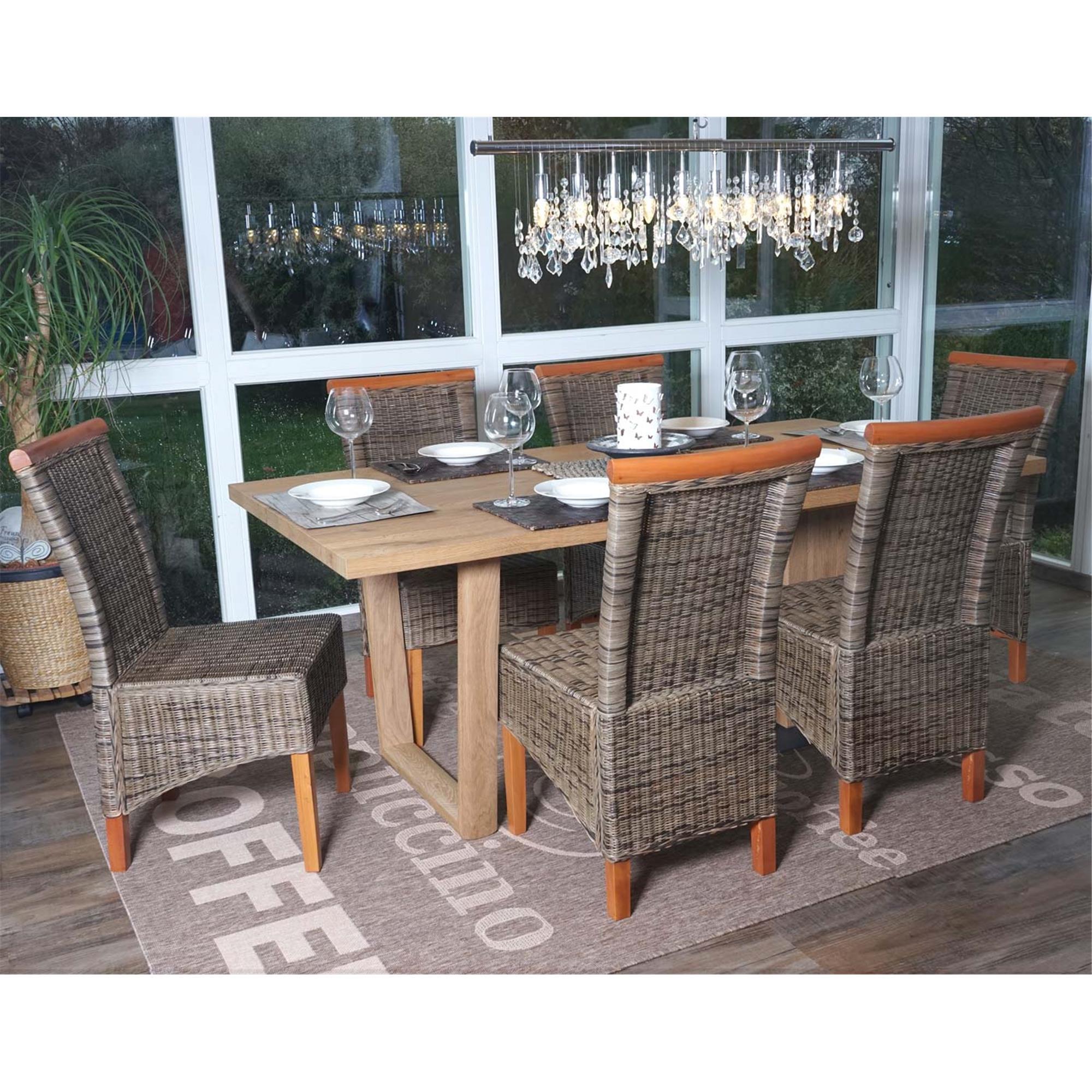Lote 4 sillas comedor o jardin sedri en mimbre marr n for Sillas comedor jardin