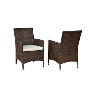 Conjunto de jardín PALERMO: mesa + 2 sillas poly ratán arena