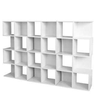 set 3 estanteras modulares m73 124x187x28 cm color blanco - Estanterias Modulares
