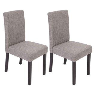 lote sillas de comedor litau tela precioso diseo tela gris y patas negras