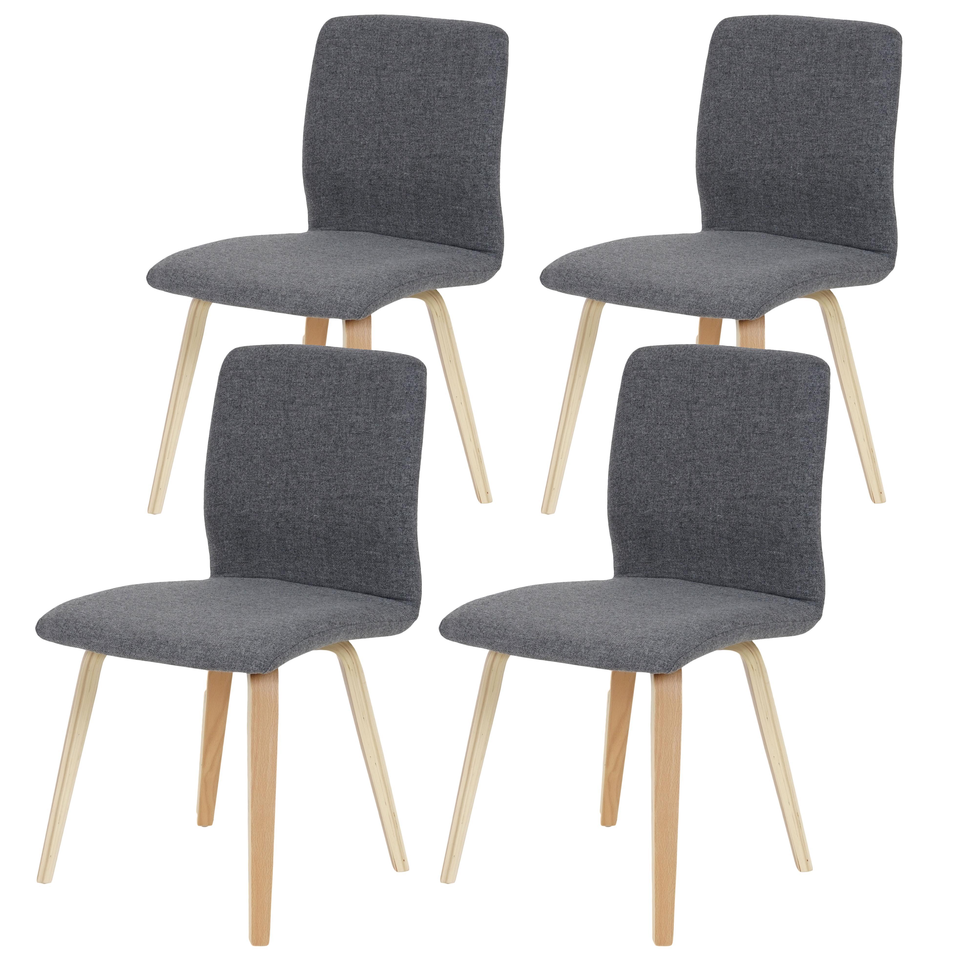 lote sillas de cocina o comedor dusty estructura y patas en madera de haya