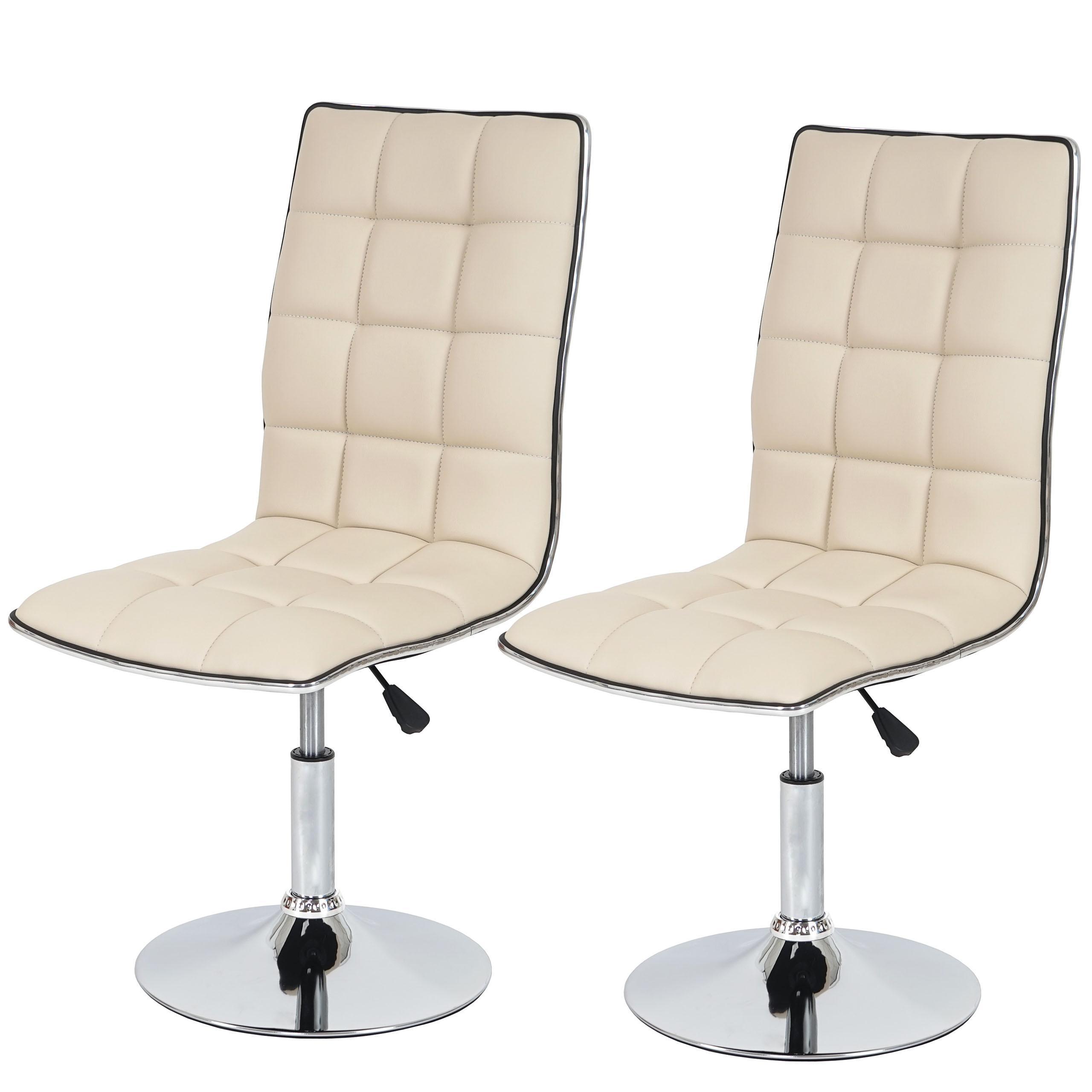 Lote de 6 sillas de comedor CAPRI, muy cómodas y robustas, en piel ...