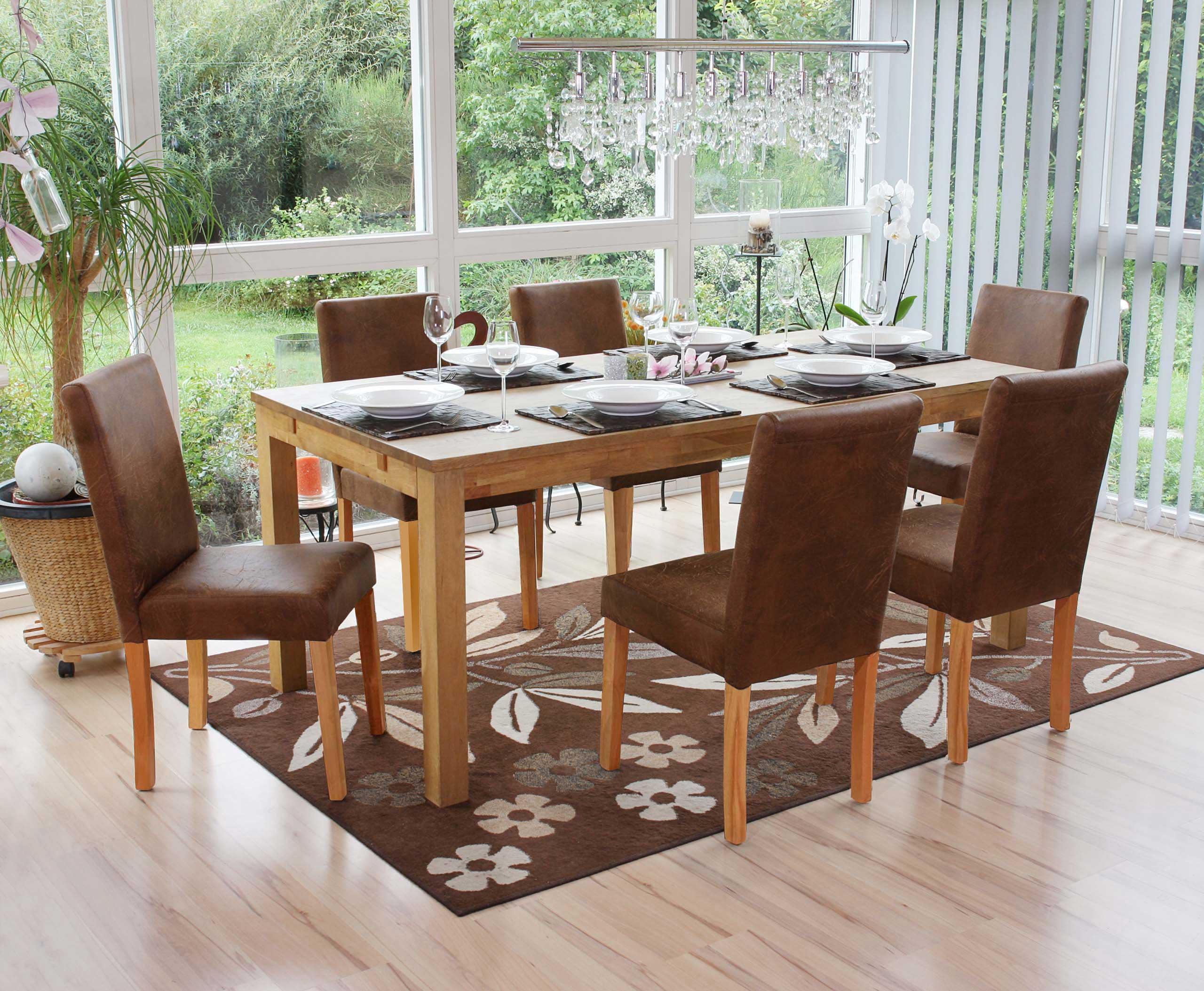 Sillas de cuero comedor fundas para sillas de comedor de for Comedor ovalado extensible