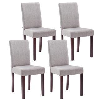 sillas de comedor tela patas oscuras