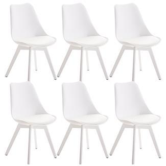 Sillas blancas comedor simple pack sillas de comedor for Sillas blancas apilables