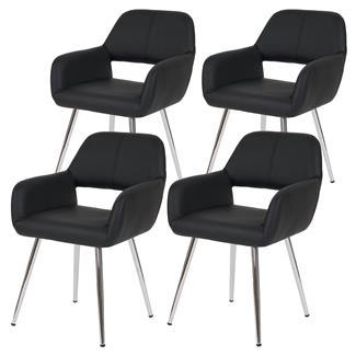 Lote 2 sillas de comedor LITAU XXL, hasta 150kg Marrón - Lote 2 ...