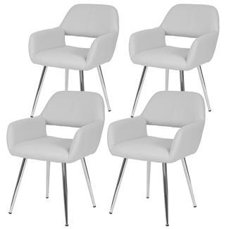 lote sillas de comedor o cocina calisa gran diseo con patas metlicas cromadas
