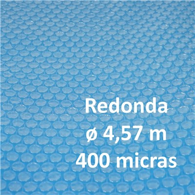 Cubierta Lona Térmica Piscina, dimensiones 4,57 metros, grosor: 400 micras, forma ovalada, en azul