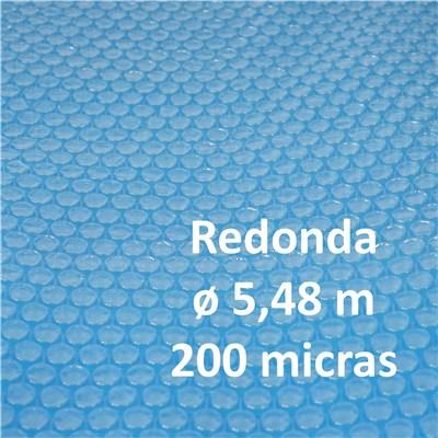 Cubierta Lona Térmica Piscina, dimensiones 5,48 metros, grosor: 200 micras, forma ovalada, en azul