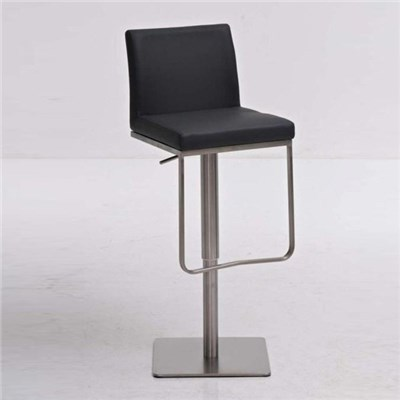 Taburete de diseño PANAMA, acero inoxidable, altura ajustable, color gris
