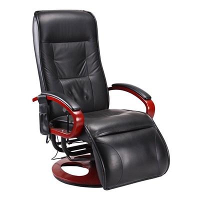 Sillón Relax ARLES II, con función masajes, en Polipiel color negro
