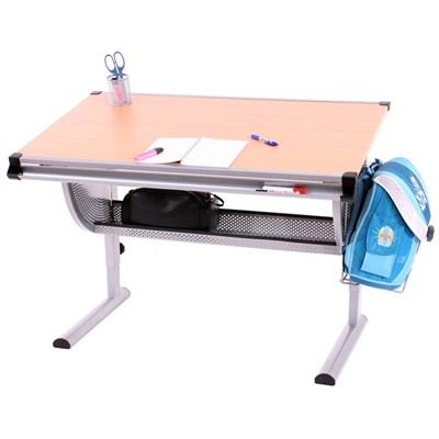 Mesa de Dibujo o Escritorio Juvenil OXFORD, basculante, ajustable en altura, color haya