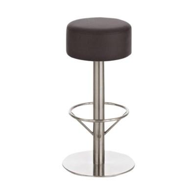 Taburete para Bar o Cocina C34, estructura en acero, gran acolchado, en marrón