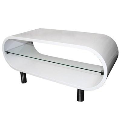 Mesa de TV o Centro BRESCIA 44x90x38cm, patas regulables en altura Color blanco