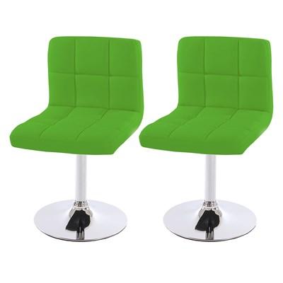 Conjunto de 2 sillas de Comedor GENOVA, Giratorias, Muy cómodas, Color Verde