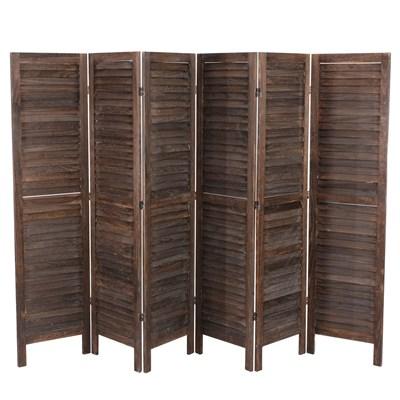 Biombo plegable dimensiones 170x276cm, 5cm de grosor, estilo clasico, vintage marrón