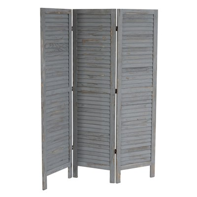 Biombo plegable dimensiones 170x138cm , 5cm de grosor, estilo clasico , color gris