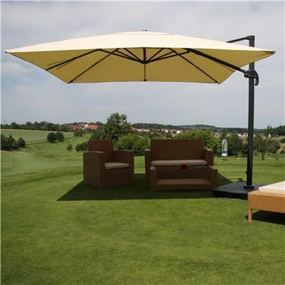 Sombrilla / Parasol IDRA CON SOPORTE Y GIRATORIA, de 3 x 3 metros, color Crema , Ajustable