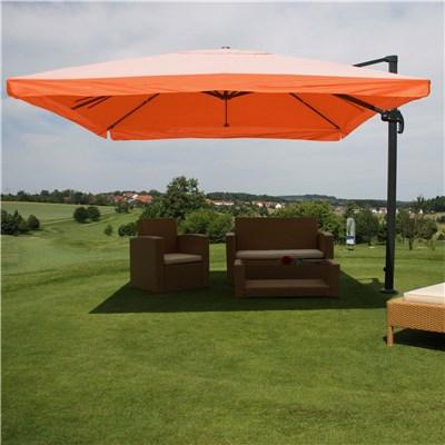 Parasol Sombrilla GIRATORIA APOLO, de 3 x 4 metros, color Terracota, Ajustable, Cruz de suelo Incluida