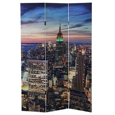 Biombo Decorativo NEW YORK, Iluminación LED incorporada, Muy Original, 180x120cm