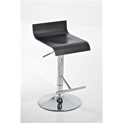 Taburete de Diseño MARIO, altura ajustable, estructura metalica, asiento en madera color negro