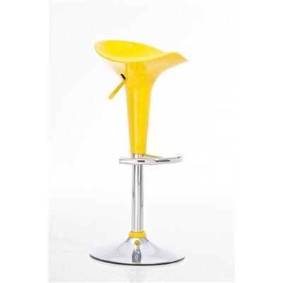 Taburete de Diseño para Cocina CANDY, En Color Amarillo, Regulable en Altura y Giratorio