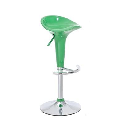 Taburete de Diseño para Cocina CANDY, En Color Verde, Regulable en Altura y Giratorio