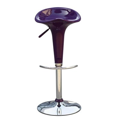 Taburete de Diseño para Cocina CANDY, En Color Morado, Regulable en Altura y Giratorio