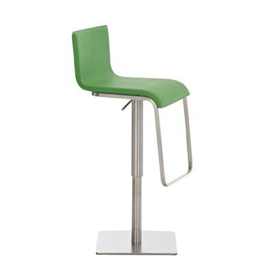 Taburete para Bar o Cocina EVA, estructura en acero, exclusivo diseño, altura ajustable, en piel verde