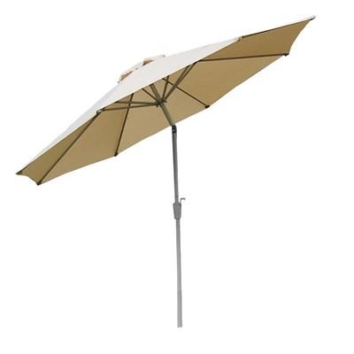 Sombrilla 3 metros MAYA, Resistente a sol y agua, Gran diseño, Crema