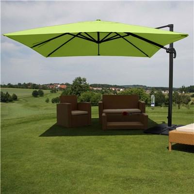 Sombrilla / Parasol IDRA CON SOPORTE Y GIRATORIA, de 3 x 3 metros, Verde, Ajustable