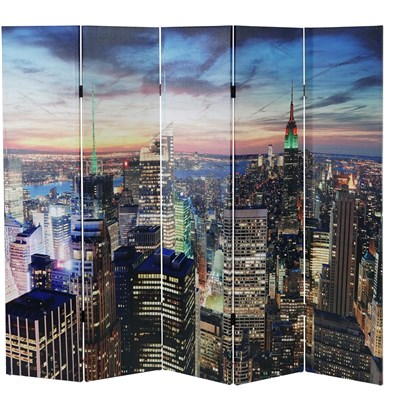 Biombo Decorativo NEW YORK, Iluminación LED incorporada, Muy Original, 180x200cm