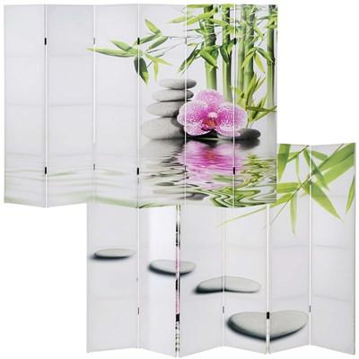 Biombo 6 paneles SAMU, Estructura de Madera, 180x240x2,5cm