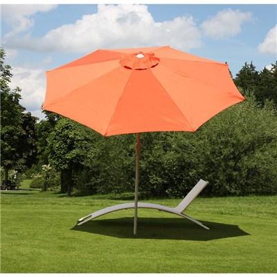 Sombrilla 3 metros MAYA, Resistente a sol y agua, Gran diseño, Terracota