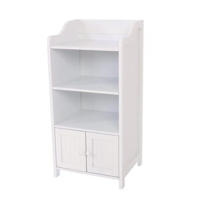DEMO# Mueble de Baño con estante y puerta, dimensiones 86x41cm, color blanco