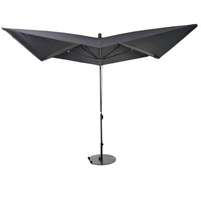 Sombrilla/ Parasol ORIGAMI CON SOPORTE, 3 x 3 metros, Aluminio Inoxidable, Gran Calidad, Gris