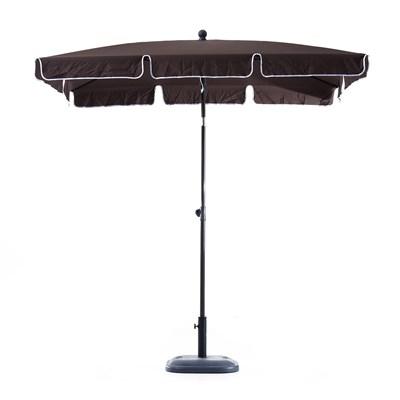 Sombrilla Rectangular RANIER, 2x1,25 metros, Estructura de Aluminio, color Marrón