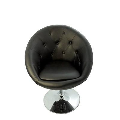 DEMO# Taburete relax LONDRES, en acero inoxidable y pòlipiel color negro
