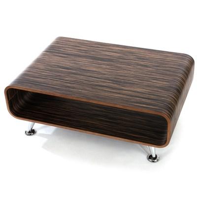Mesa de centro Lounge PERUGIA XXL, 33x60, 5x90 cm Color zebra marrón oscuro