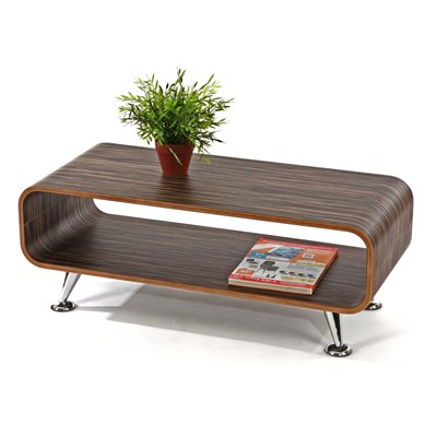 Mesa de Centro Lounge PERUGIA, 33,5 x90x39cm, zebra marrón oscuro