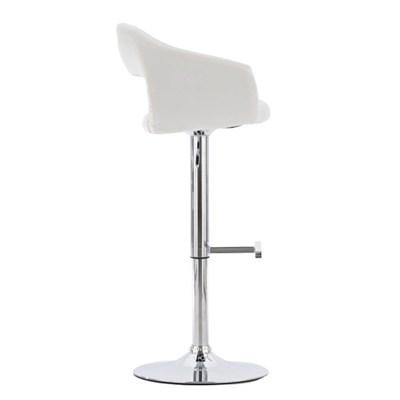 Taburete para Bar o Cocina C32, estructura metálica, altura ajustable, color gris