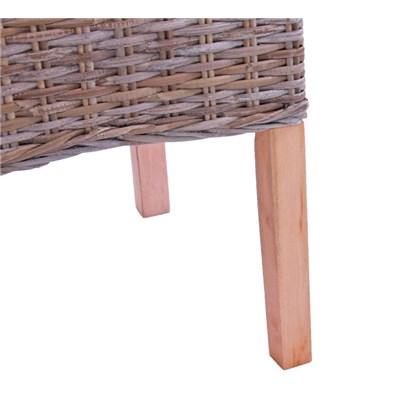 Lote 2 Sillas de comedor o Jardín M44 en madera y mimbre