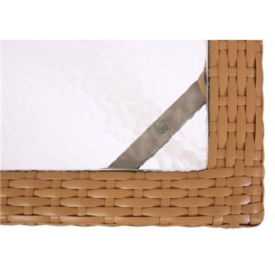 Mesa de comedor PARMA mesa de jardín, ratán poli 150x80cm, arena