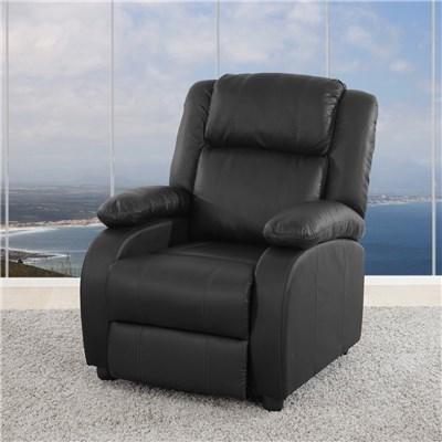Sillon Relax Reclinable LINCON, Color Negro,  Gran acolchado y comodidad