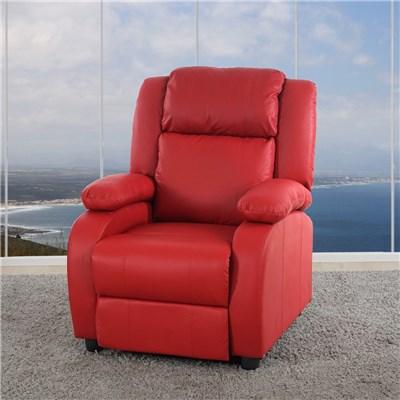 Sillon Relax Reclinables LINCON, Gran acolchado y comodidad, en color Rojo