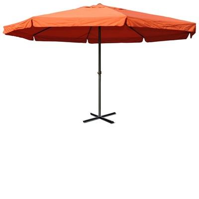 Sombrilla MISTY II color Terracota, 5 m Diámetro, Base Fija, Altura Ajustable, Muy Resistente