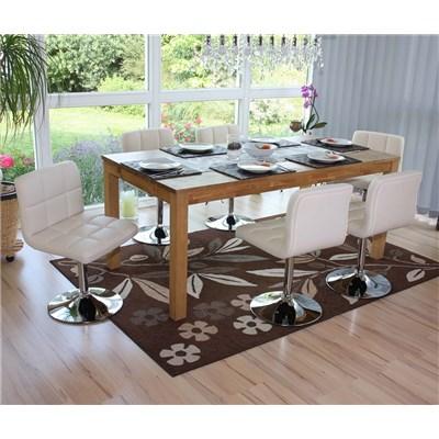 Conjunto 4 sillas de Cocina o Comedor GENOVA, Giratorias, Muy Cómodas, Color Crema