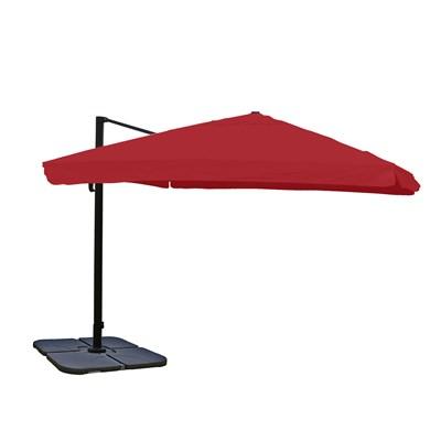 Sombrilla / Parasol APOLO CON SOPORTE Y GIRATORIA, de 3 x 3 metros, Burdeos , Ajustable