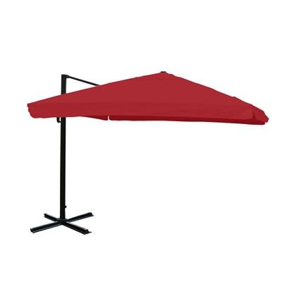 Sombrilla Aluminio APOLO, 3 x 4 metros, Rojo Burdeos, Ajustable, Cruz de suelo