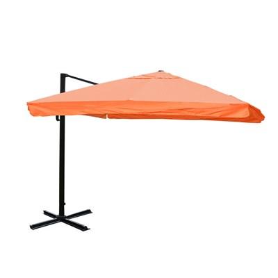 Sombrilla / Parasol APOLO, de 3 x 4 metros, color Terracota , Ajustable, Cruz de suelo Incluida